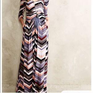 Anthropologie Maeve Novela Striped Maxi Dress